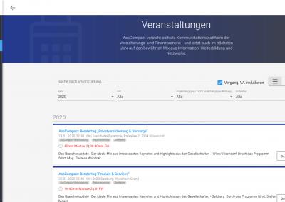 Veranstaltungsdetail im AssCompact-Kundenportal