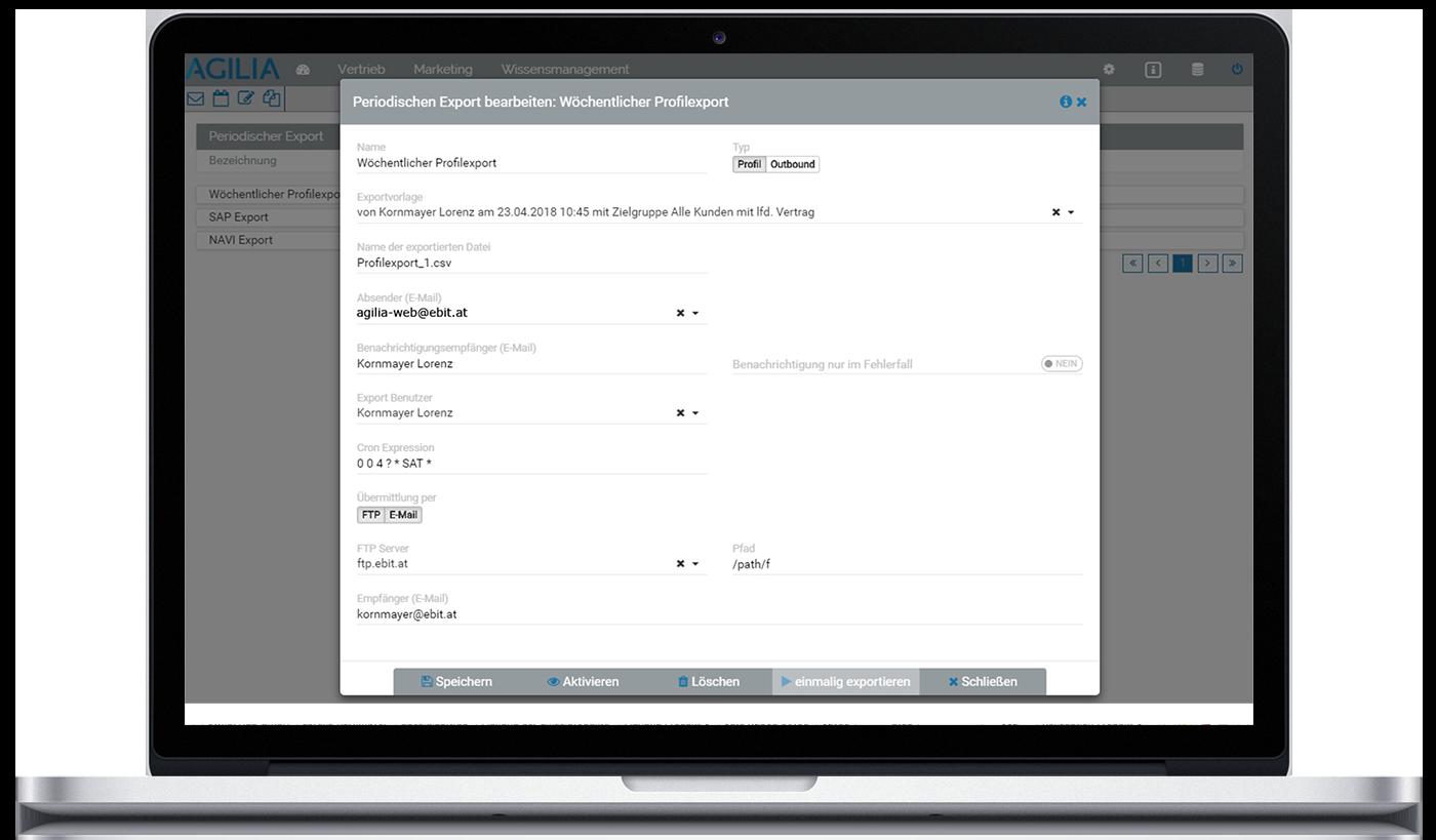 mockup_2225_1 Datenexportmanager mit flexibel gestaltbaren Exportvorlagen