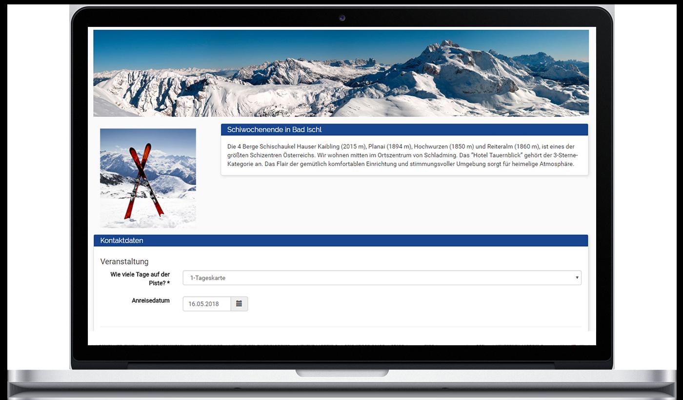 mockup_2226_Veranstaltungsmanagement mit voller Kampagnenintegration und extern verfuegbaren Landing Pages